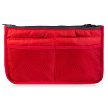 Guapabien Practical Nylon Mesh Double Zipper Storage Bag Wash Receive Bag