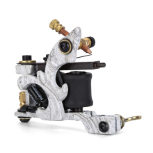 Professional 10 Wrap Coils Cast Iron Texture Liner Tattoo Machine