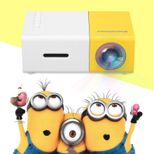 Home mini projector YG300 Support 1080p Yellow and White