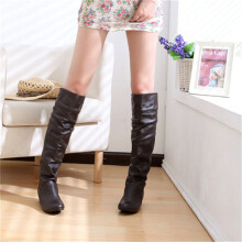 BESSKY Women's Winter Knee High Boots High Tube Flat Heels Riding Boots_