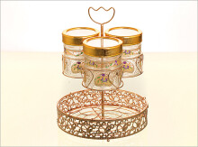 VICENZA Candy Jar with Water Rack Lily 7Pcs GA3