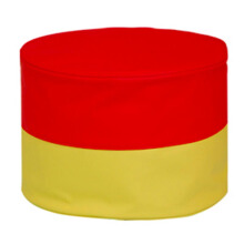 FOLDAWAY Bean Bag Mini Stool Rainbow A (Red-Yellow)