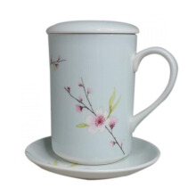 ST. JAMES Mug Set Blossom Blue 11 Oz