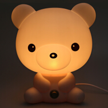Cute Cartoon Bear Design Energy Saving Warm Light Desk Lamp EU PLUG