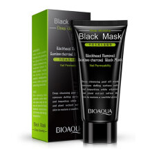 BIOAQUA Black Removal Bamboo Charcoal Black Mask Blackheads Nose Face T-Area Treatment