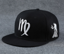 BAI B-109 Adjustable Baseball Cap MBL Hiphop cap with Virgo design black&white color