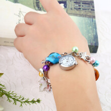 Kiss Ocean- dolphin Alloy Charming Quartz Bracelet Bangle Wrist Watch Women