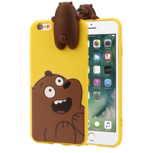 BESSKY 3D Cartoon Animals Cute Bare Bears Soft Silicone Case Skin For IPhone 6/6s 4.7_