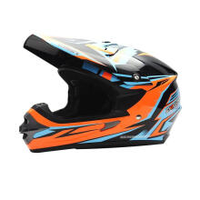 Cargloss MXC Xentury Helm Motorcross - Orange Blue Deep Black