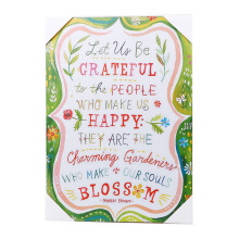BLOOM & BLOSSOM Wall Poster Large 35 X 25Cm (Quotes#1)