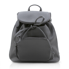 NEW COLLECTION Backpack with black metallic zipper detail - Grey
