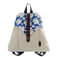 Douguyan Fabric Backpack Sekolah Rucksack Lucu Canvas Backpack untuk Girls (Blue 116)