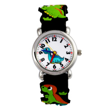 Keymao Dinosaur Waterproof 3D Cute Cartoon Silicone Wristwatches Gift for Little Girls Boy Kids Children Black