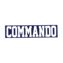 Tactical Series Velcro Patch 2.5 x 9 cm - COMMANDO - Navy White