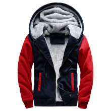 BESSKY Mens M-5XL Hoodie Winter Warm Fleece Zipper Jacket Outwear Coat_