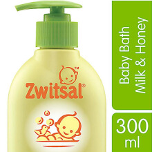 ZWITSAL Natural Baby Bath Milk & Honey 300ml