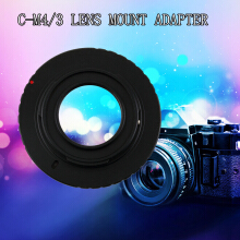 Black Aluminum Metal Adapter for Olympus PM1 C Mount Lens to Micro 4/3 M4/3
