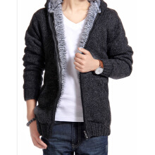 Men's Solid Hoodie Zipper Slim Fit Cardigan Sweater Coat