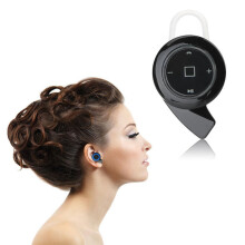 BESSKY Mini Bluetooth Headset Earphone Headphones Stereo for iPhone_ Black