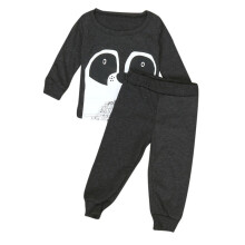 BESSKY 1Set Kids Baby Long Sleeve Cartoon Printing T-Shirt Tops+Pants Clothes Outfits_