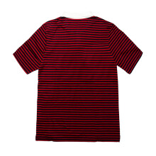 B.O OUTSIDERS Stripe Ss Rugby Polo - Navy Red