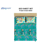 PILLOW PEOPLE Bed Sheet Set - Frozen Green Sister / 160x200cm