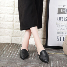 New Arrivals women hollow pointed toe flat shoes female British retro minimalist shoes
