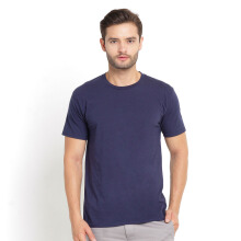 STYLEBASICS Men's Round Neck Basic T-shirt - Navy Blue