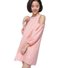 LOVE, BONITO Olynna Cutout Shoulder Dress - Pink