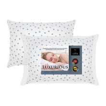 THE LUXE Luxurious Cotton Print Silicon Pillow 2 pcs - Flower / 48cm x 64cm / 550gr