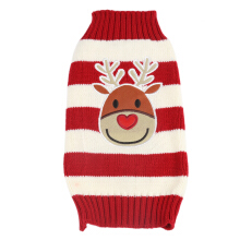 Cartoon Christmas Deer Pattern Medium Large Pet Dog Cotton Coat Clothes