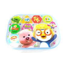 PORORO & Friends Eat Out Stainless Steel Zip Square Bag - Blue