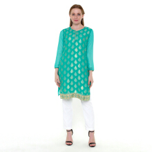CHANIRA FESTIVE COLLECTION Raqia Glitter Short Tunic - Green