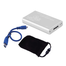 [Kingstore]Mini mSATA to USB 3.0 SSD Hard Disk Box External Enclosure Case with Cable