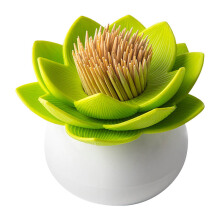 QUALY Lotus Toothpick Holder - Green/QL10156WHGN