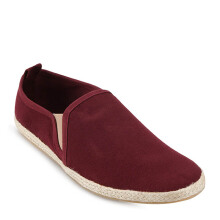 Minarno Maroon Canvas Slip-On ND125 - Maroon