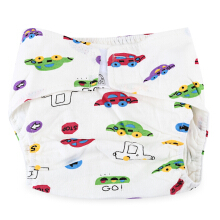 Cartoon Cloth Diaper Cotton Nappy for Babies Big Car