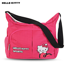 Hello Kitty Cute Style Shoulder Bag Durable Sport Bags for Girls TUTTI FRUTTI CHECK