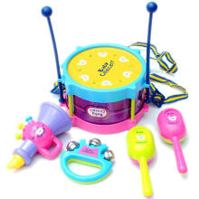BESSKY 5pcs Kids Baby Roll Drum Musical Instruments - Purple