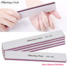 BlinkingNails Square Nail File Emery Board Buffing Sanding Nail Files and Buffers Nail Buffers Trimmer Tool 5pcs