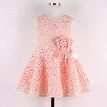 BESSKY Girls Kids Full Lace Floral One Piece Dress Child Princess Party Dress_