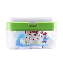 LITTLE BABY Multifunction Box 3 in 1 Kotak Kapas Multifungsi - Green