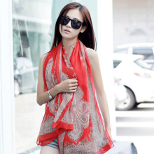 Fashion Summer Style Fold Chiffon Scarf Beach Towels Ladies Scarves Shawls