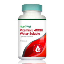 NUTRIWELL Vitamin E 400 IU Water Soluble 30 Softgel