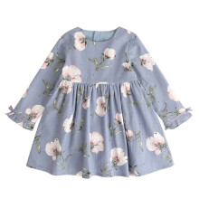 BESSKY Toddler Kids Baby Girl Clothes Long Sleeve Floral Bowknot Party Princess Dresses_