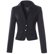 Womens Spring Autumn Long Sleeve Turn Down Collar Button  Pocket Wear to Work Office Business Casul Slim Blazer