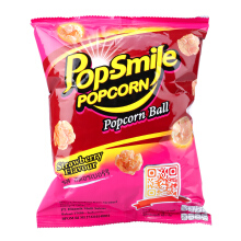 POP SMILE Popcorn Ball Strawberry Flavour 45gr