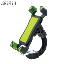 JEREFISH Motorcycle Phone Mount Anti Shake Fall Prevention Bicycle Mobile Phone Holder Cradle Clamp with 360 Rotate iPhone Green