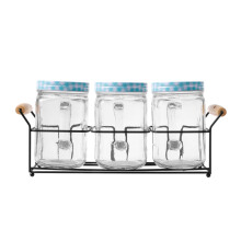 NAKAMI Glass Canister 800ML 3pcs Set NK-GC03800-B