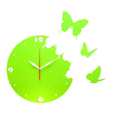 NAIL YOUR ART Butterfly Green Wall Clock/30x30Cm